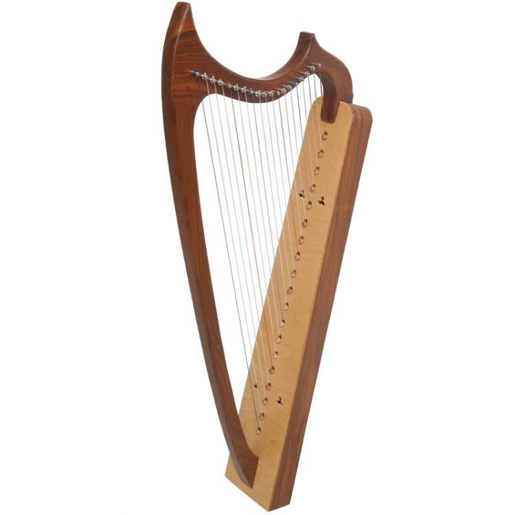 19-String Gothic Harp Rosewood11