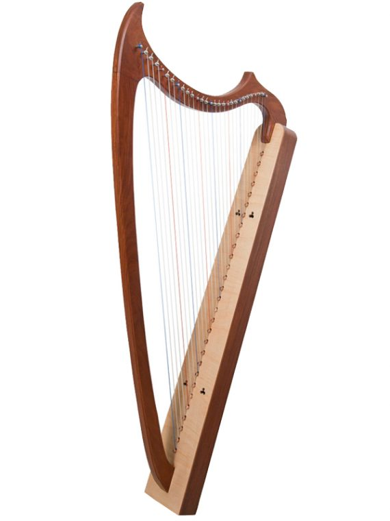 29-String Gothic Harp Rosewood1