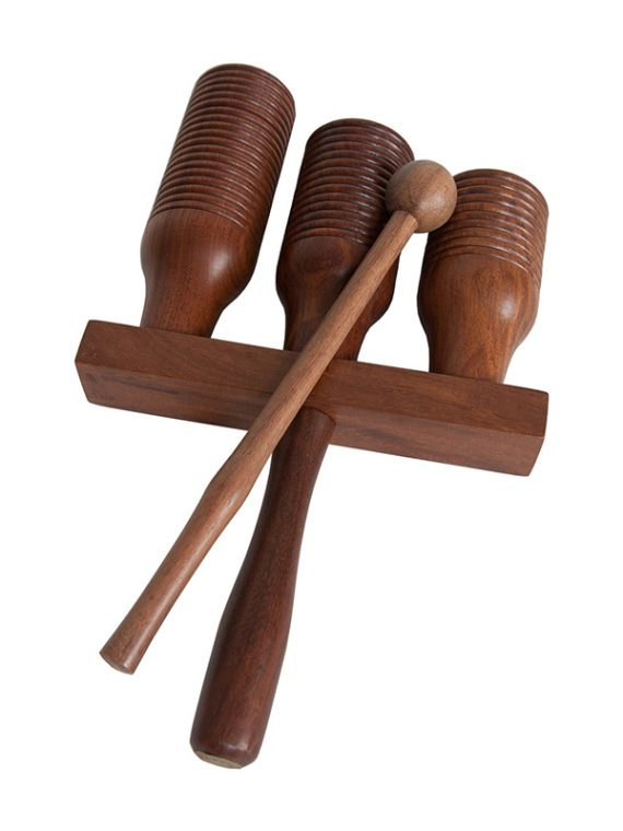 3-bell Wooden Agogo Bell Rosewood
