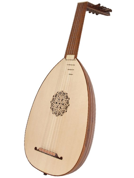 Deluxe 6-Course Lute Rosewood11