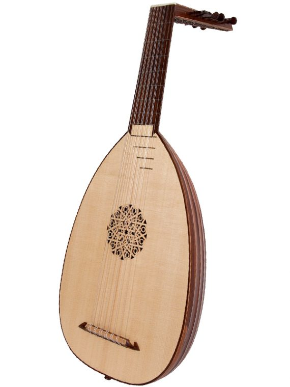 Deluxe 7-Course Lute Rosewood11