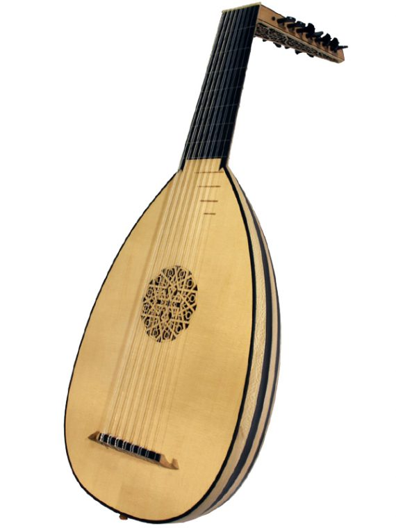 Deluxe 8-Course Lute – Ebony11