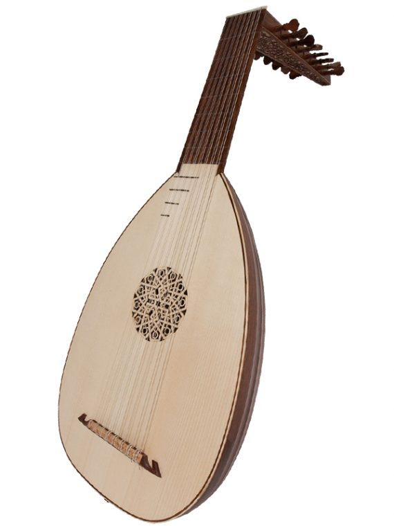 Deluxe 8-Course Lute Rosewood- Lefty11