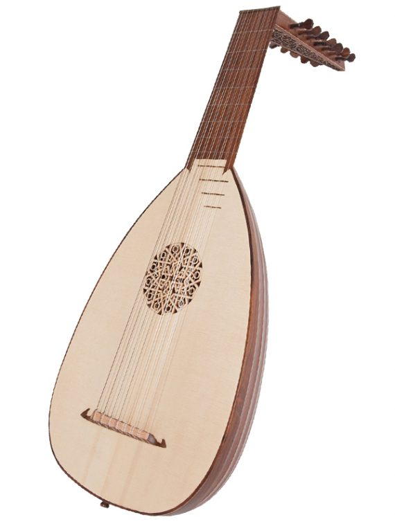 Deluxe 8-Course Lute Rosewood Righty11