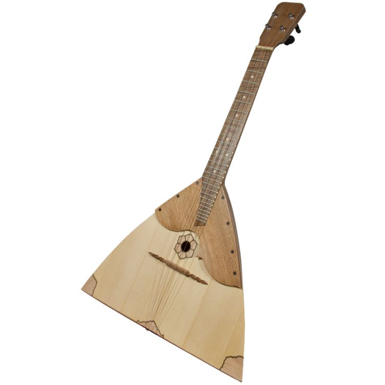 This Tenor Balalaika Ukulele Walnut -sized instrument is based upon a 430mm (17 inches) scale. The body has the classical triangular shape.