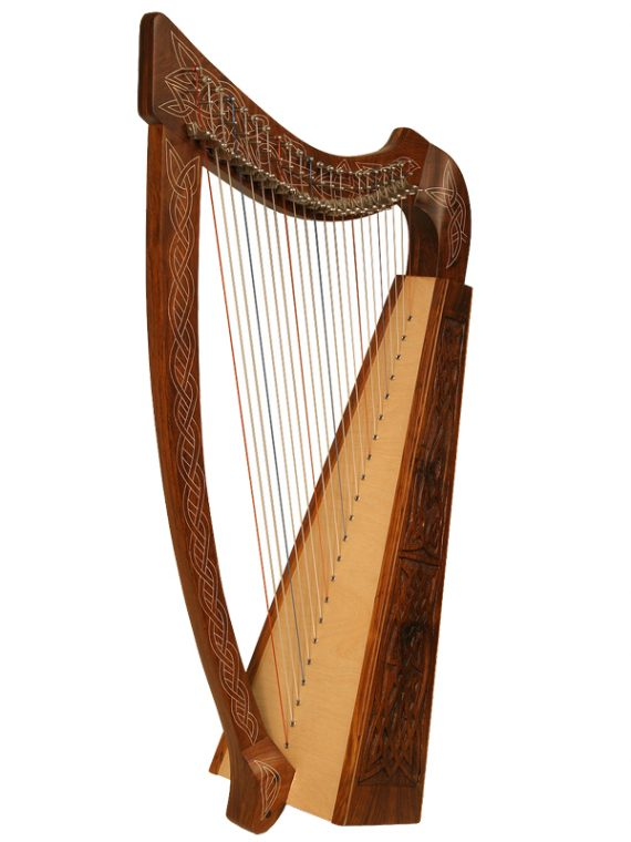 Heather Harp 22-String Knotwork