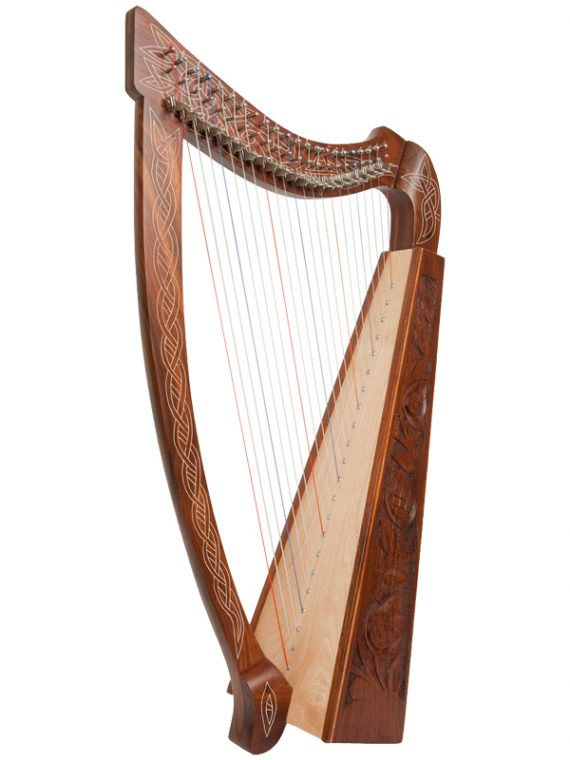 Heather Harp 22-String, Rosewood Thistle1