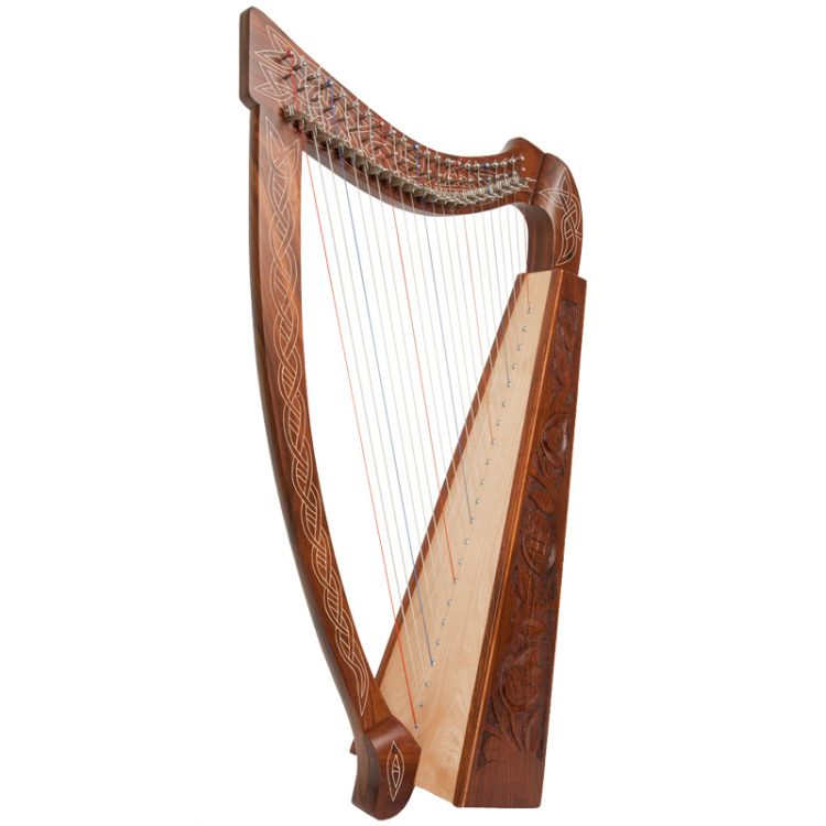 Heather Harp 22 Featuring 22 DuPont hard nylon strings, a range from C3 to C6, 22 sharpening levers, engraved and inlaid Rosewood frame and a high quality