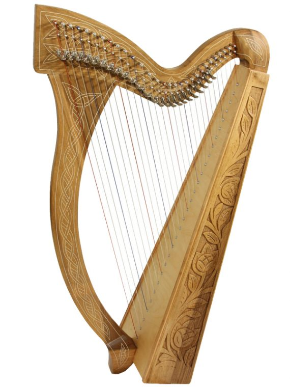Minstrel Harp 29-String – 1Walnut