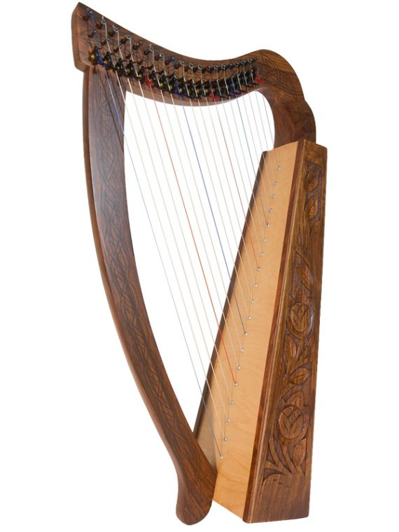 Pixie Harp 19-String Rosewood – Black Hardware