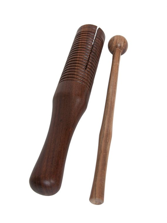 Wooden Single Bell Agogo Rosewood with Mallet