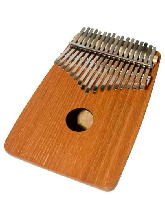 17-KEY THUMB PIANO W ROUNDED BACK – RED CEDAR
