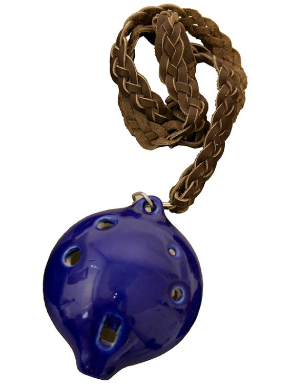 ALTO OCARINA WITH BRAIDED NECKLACE A4 – BLUE