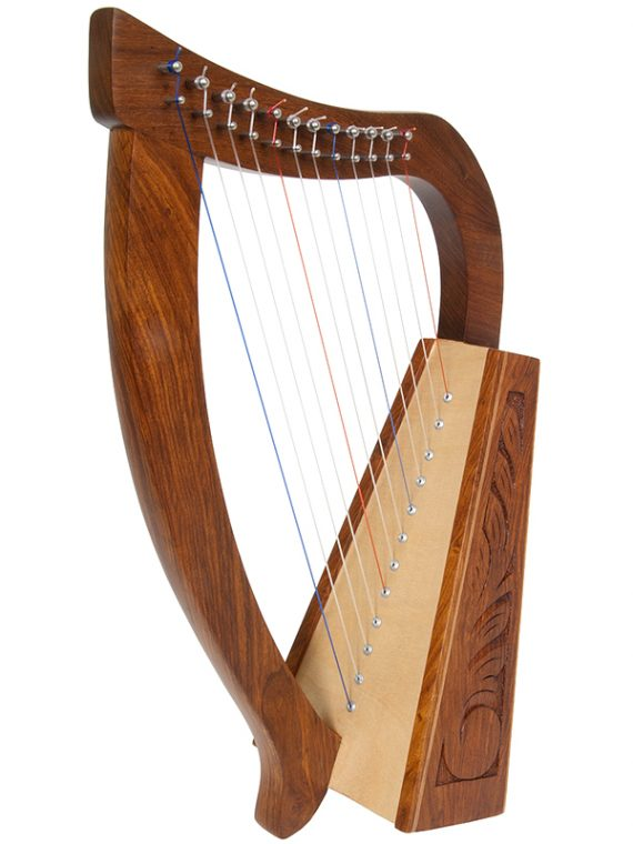 BABY HARP 12-STRING ENGRAVED ROSEWOOD