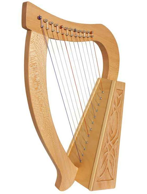 BABY HARP 12-STRING KNOTWORK, LACEWOOD