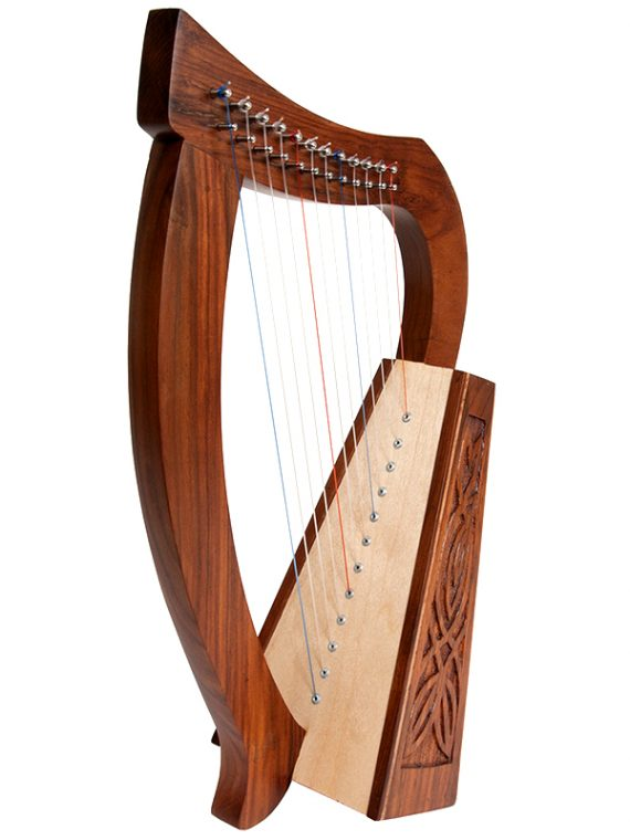 BABY HARP 12-STRING KNOTWORK ROSEWOOD