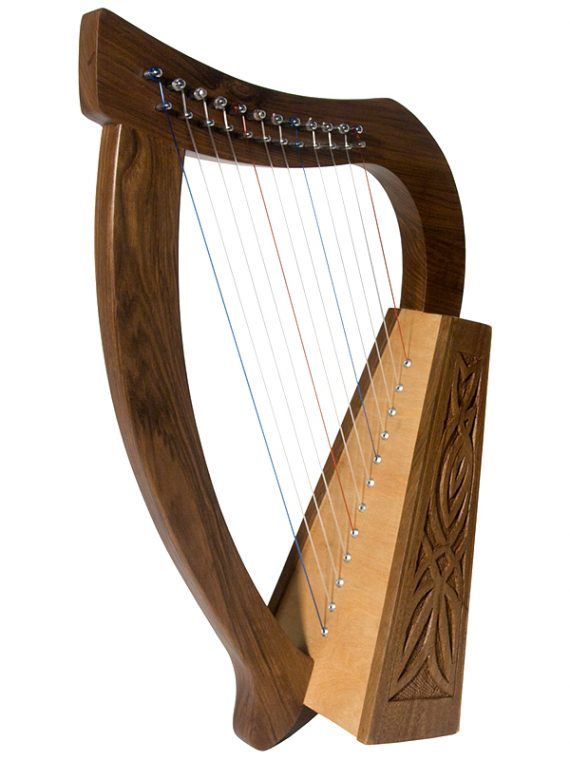 BABY HARP 12-STRING KNOTWORK – WALNUT