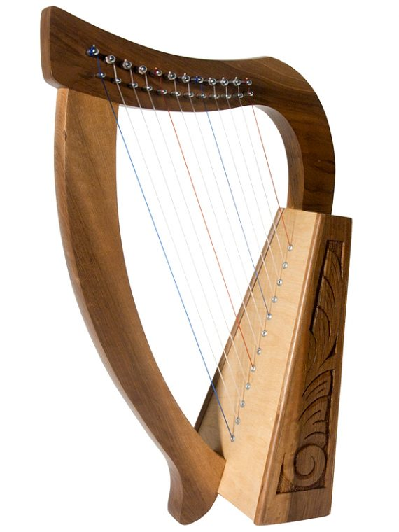 BABY HARP 12-STRING WALNUT