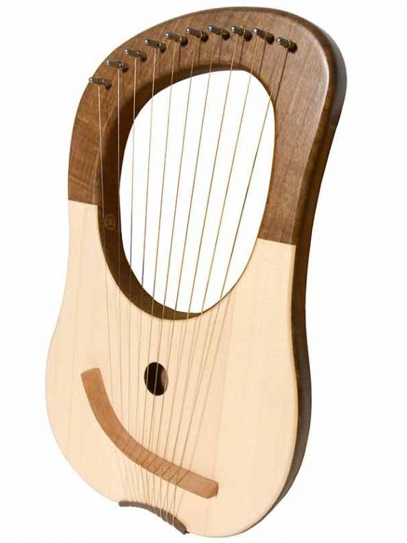 LYRE HARP 10-STRING – WALNUT