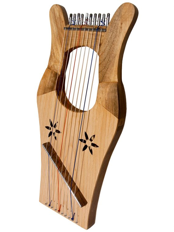 MINI KINNOR HARP – LIGHT – WALNUT
