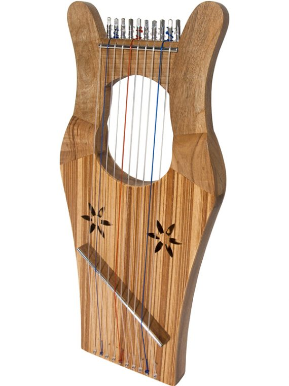 MINI KINNOR HARP – WALNUT