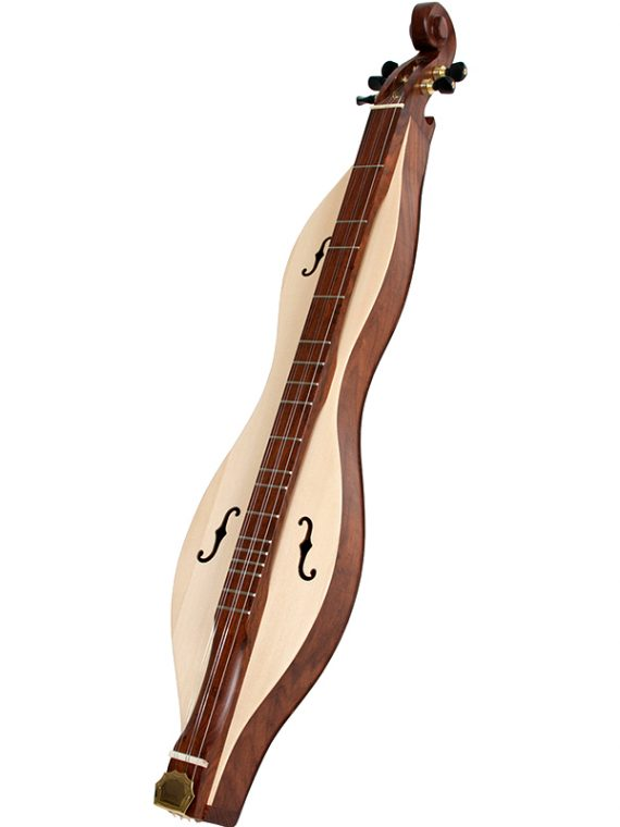 MOUNTAIN DULCIMER 5-STRING CUTAWAY UPPER BOUT F-HOLES SCROLLED PEGBOX ROSEWOOD