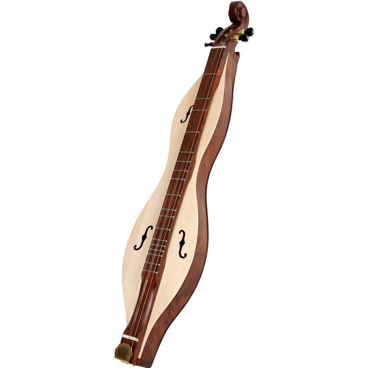 The Mountain Dulcimer 5 string plays the same and sounds the same as a traditional mountain dulcimer. One side, however, is narrower