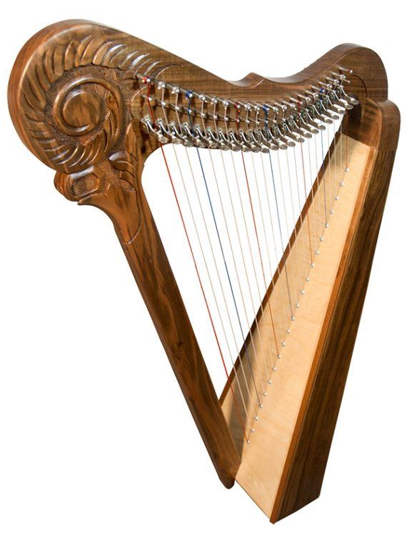 PARISIAN HARP 22-STRING – WALNUT