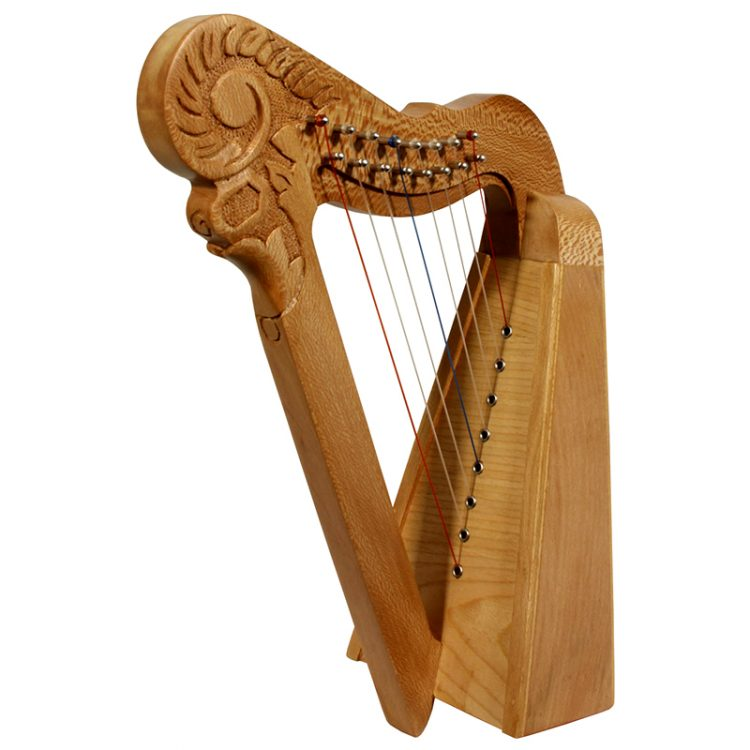 8 string Parisian Lacewood Harp. This is a functional harp, but has a design to be decorative. This is stylishly has a design of solid lacewood with a spruce soundboard.