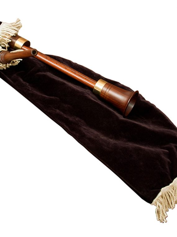ROSEWOOD MEDITERRANEAN BAGPIPE WITH TWIN CHANTERS AND BLACK VELVET COVER