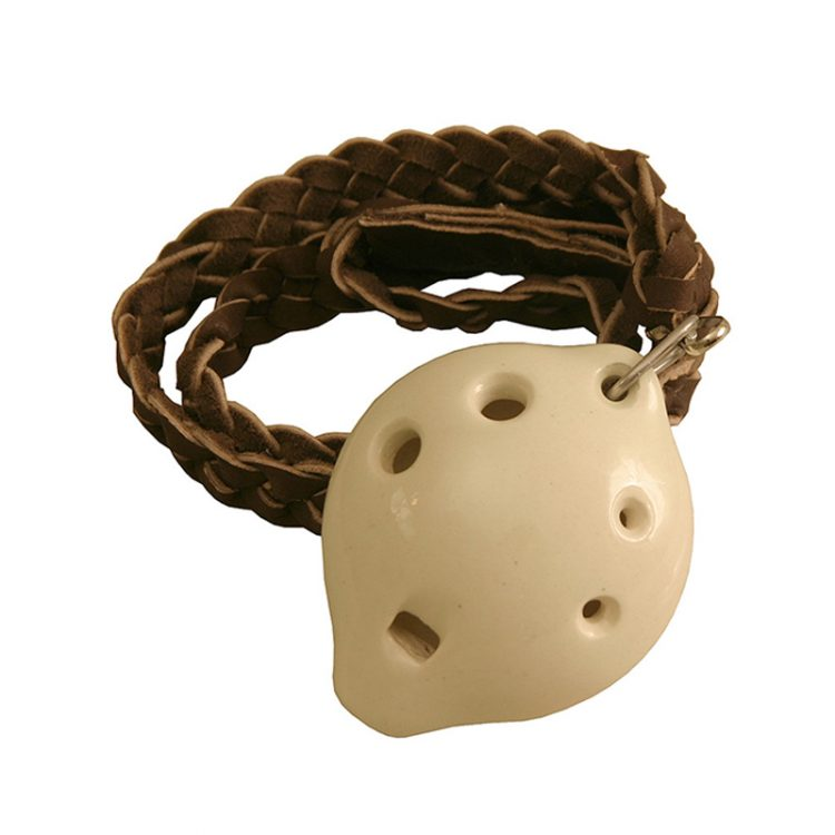 Clay molded, variations in the final product should are expected. Our soprano ocarina with braided necklace is the best one you will find in town.