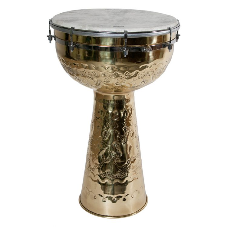 BRASS DOUMBEK WITH FIBERSKYN HEAD 12