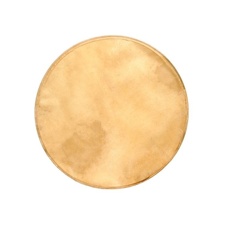 PREMOUNTED GOATSKIN HEAD FOR OUTSIDE TUNABLE BODHRAN 18-INCH