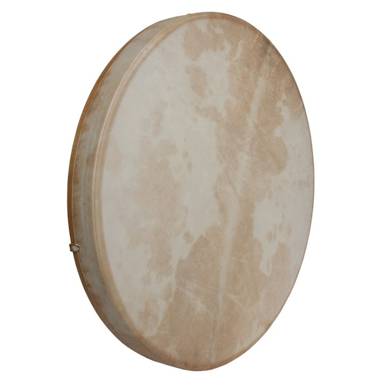 TUNABLE GOATSKIN HEAD WOODEN FRAME DRUM WITH BEATER 22