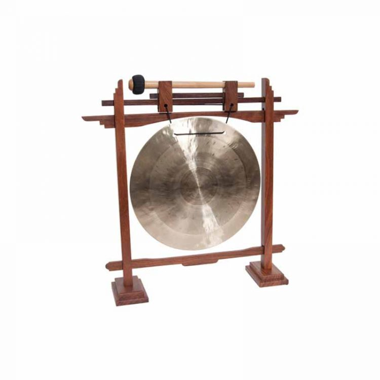 Mid east mfg 10-INCH WIND GONG & PEDESTAL STAND ROSEWOOD