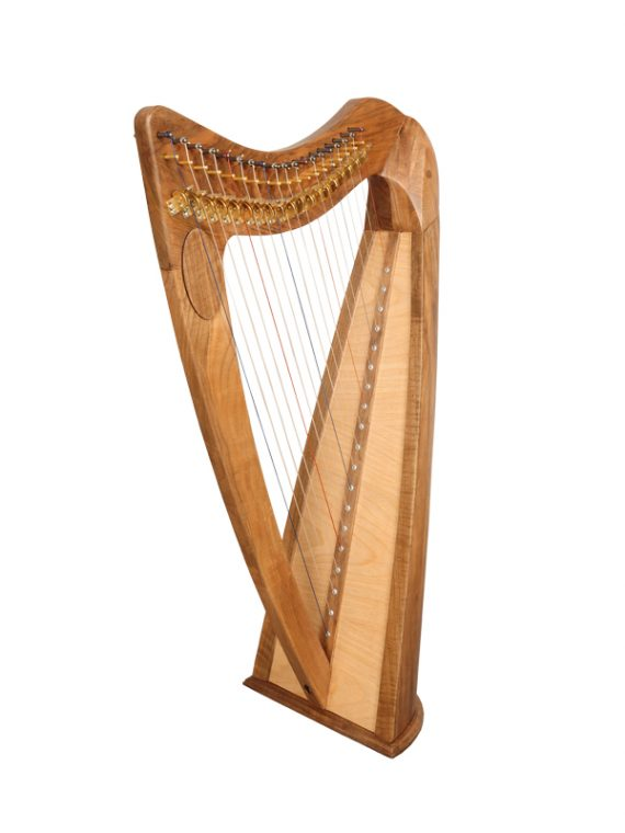19 String Round Back Harp Walnut