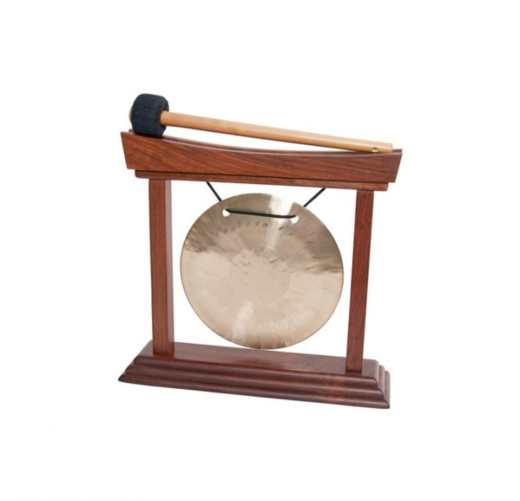 6-INCH WIND GONG & CURVED STAND ROSEWOOD