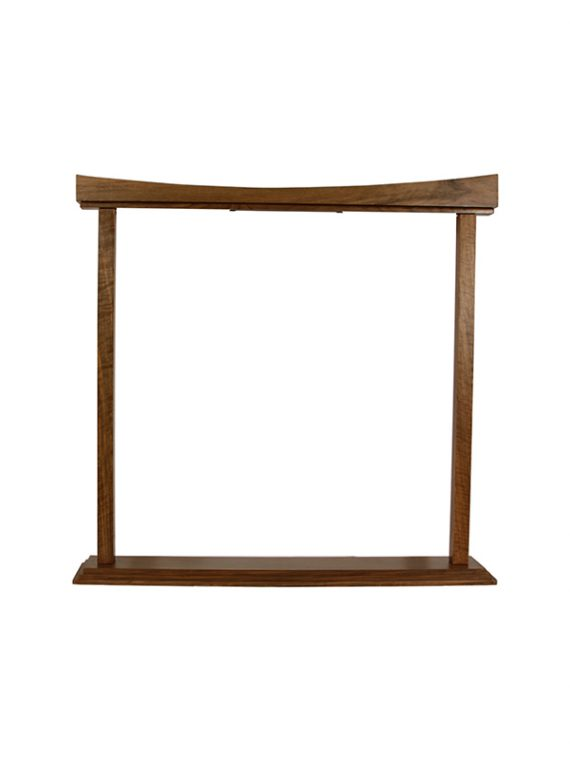 CURVED GONG STAND 22 INCH WALNUT