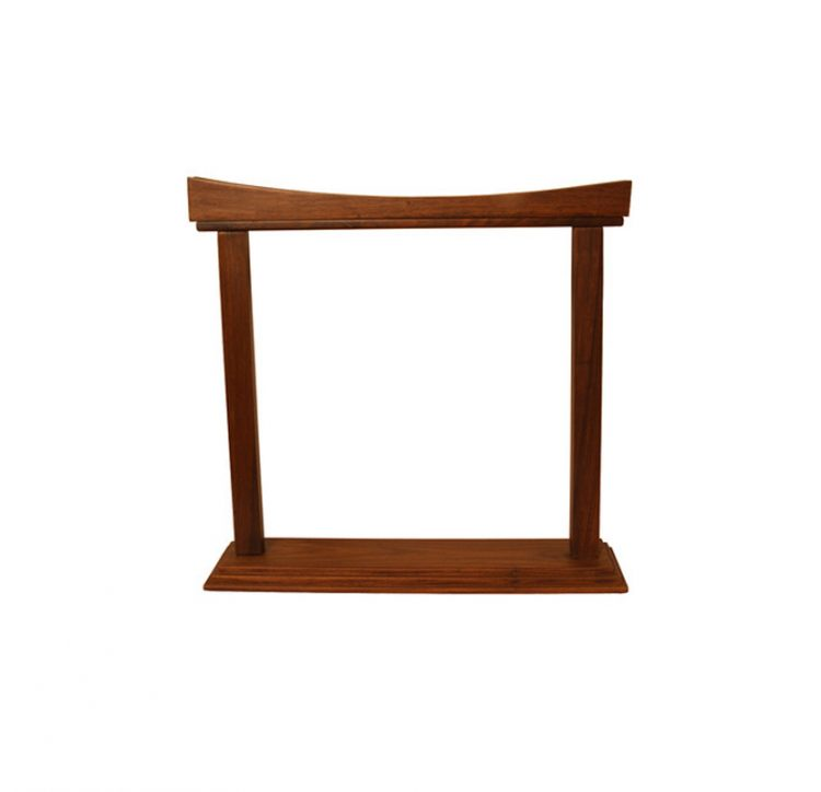 CURVED ROSEWOOD GONG STAND 14-INCH