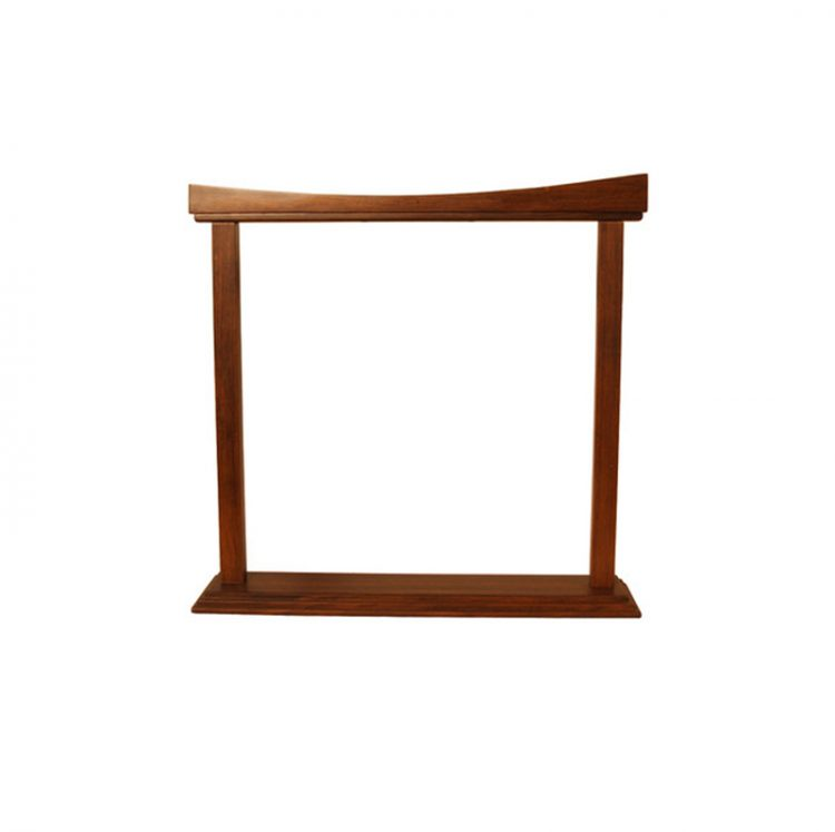 CURVED ROSEWOOD GONG STAND 18-INCH