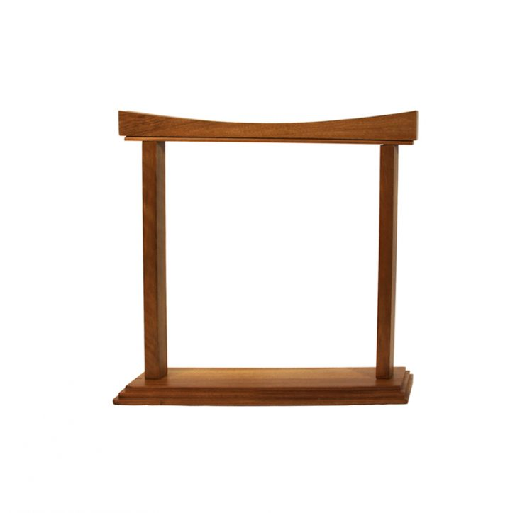 CURVED WALNUT GONG STAND 14-INCH