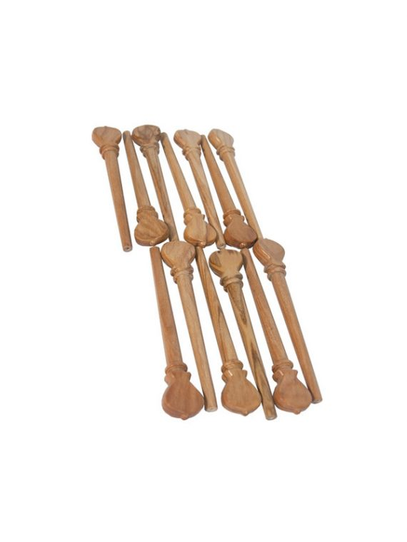 DESCANT LUTE PEGS 13-PACK – SATINWOOD