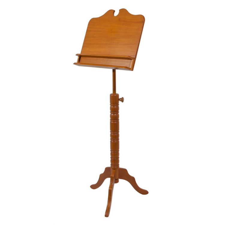 DOUBLE SHELF BOSTON MUSIC STAND - RED CEDAR