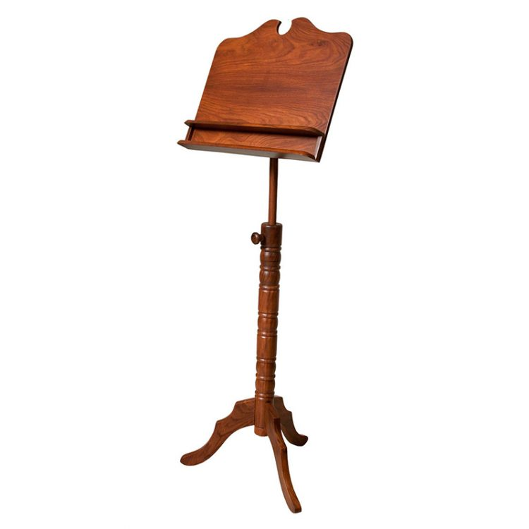 DOUBLE SHELF BOSTON MUSIC STAND ROSEWOOD