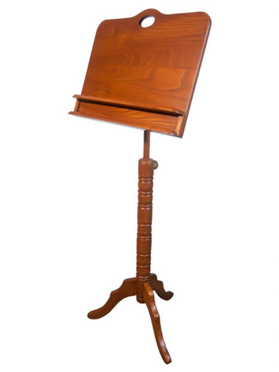 DOUBLE SHELF COLONIAL MUSIC STAND – RED CEDAR