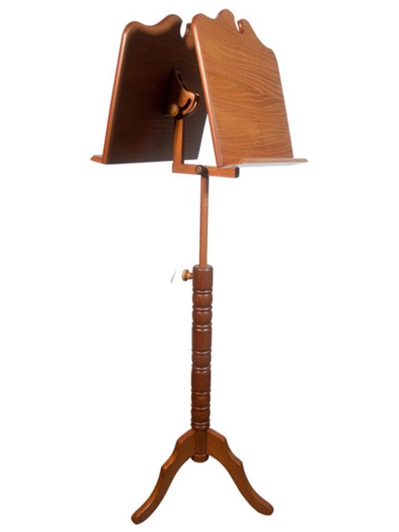 DOUBLE TRAY BOSTON MUSIC STAND – RED CEDAR