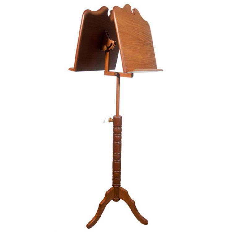 DOUBLE TRAY BOSTON MUSIC STAND - RED CEDAR