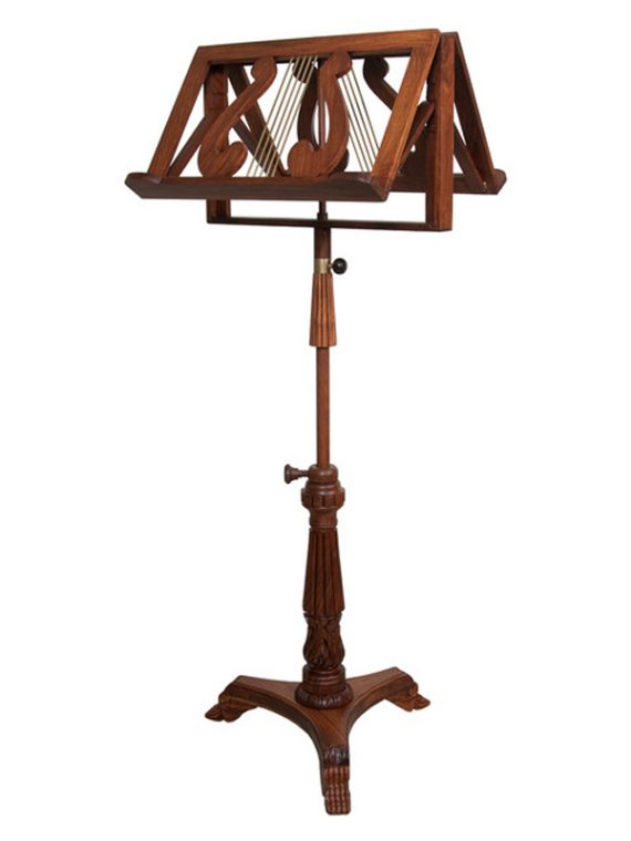 DOUBLE TRAY KING ALBERT MUSIC STAND ROSEWOOD