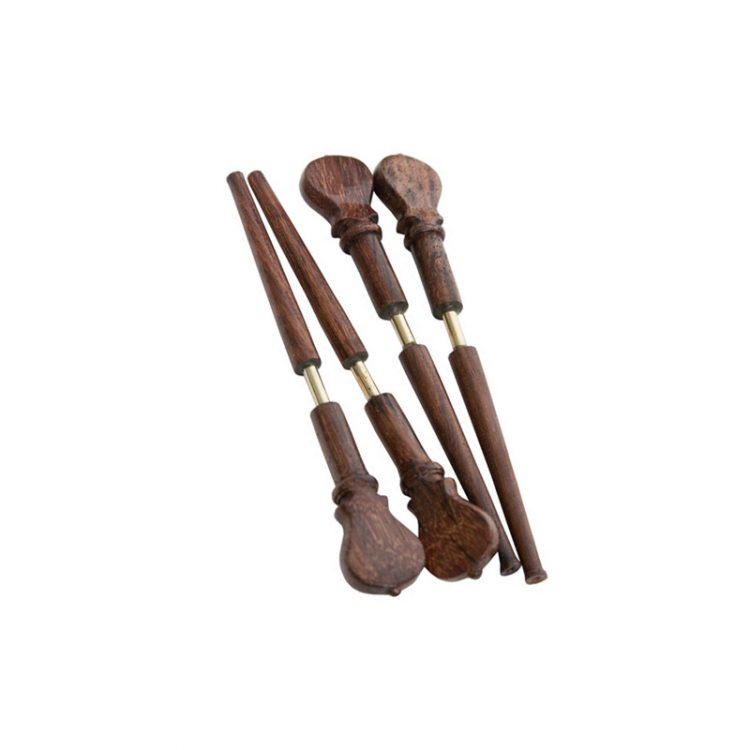 LUTE ROSEWOOD PEGS WITH METAL SHAFTS 4-PACK