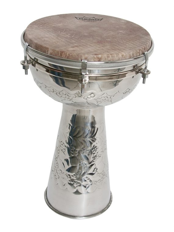 METAL DOUMBEK WITH SKYNDEEP HEAD AND INTERNAL JINGLES 8-BY-14-INCH